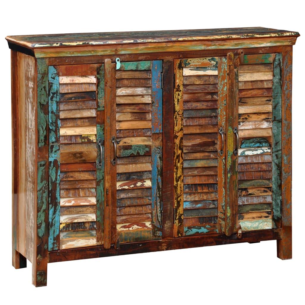 antik vintage massivholz kommode sideboard schrank 4 t ren. Black Bedroom Furniture Sets. Home Design Ideas