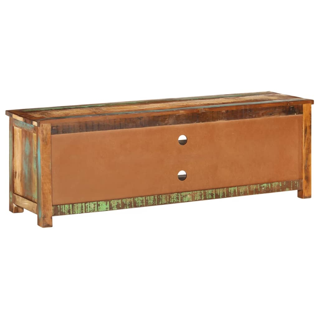 reclaimed wood tv cabinet tv stand 4 drawers. Black Bedroom Furniture Sets. Home Design Ideas