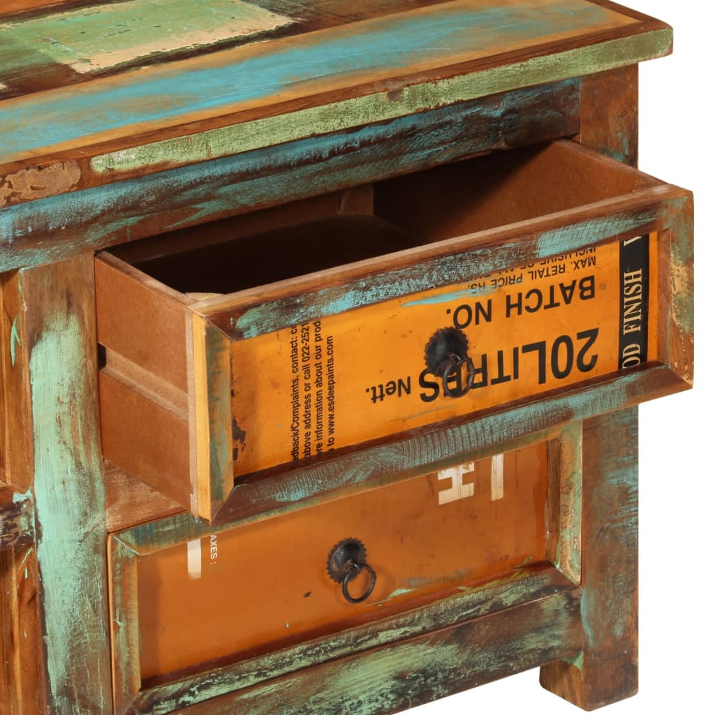 Design antik teak tv tisch lowboard sideboard 4 schubladen for Tv tisch design