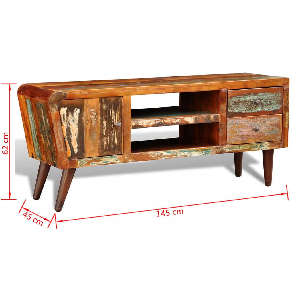 Reclaimed Wood Tv Cabinet 1 Door 2 Drawers