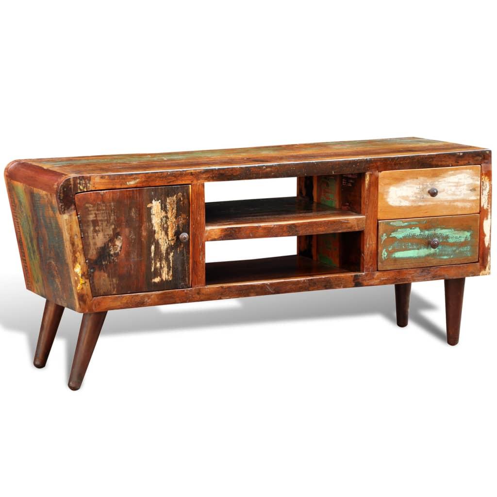 design antik teak tv tisch lowboard sideboard 2 schubladen g nstig kaufen. Black Bedroom Furniture Sets. Home Design Ideas