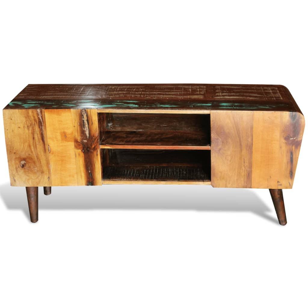 Design antik teak tv tisch lowboard sideboard 2 schubladen for Tv tisch design