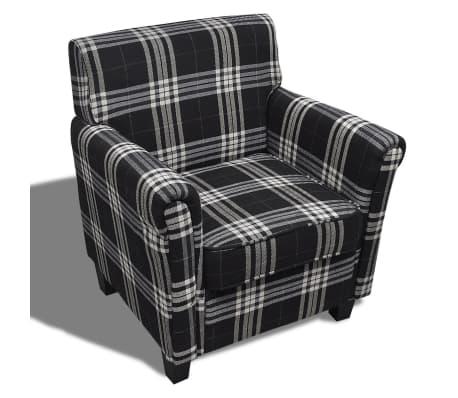 sofa stuhl armsessel stoff schwarz sitzkissen im vidaxl trendshop. Black Bedroom Furniture Sets. Home Design Ideas