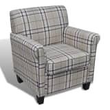 Sofa Chair Armchair Fabric Cream Seat Cushion