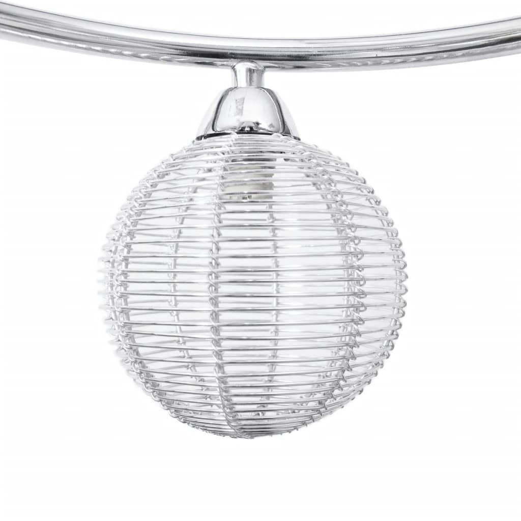 Ceiling Lamp Shades The Range: Ceiling Lamp Mesh Wire Shades On Round Rail For 3 G9 Bulbs