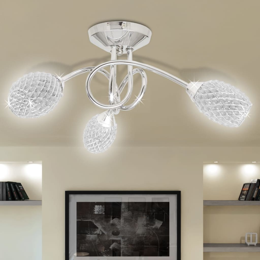 New Ceiling Lamp Ceiling Home Light Fixture Acrylic Crystal Shades White/Purple