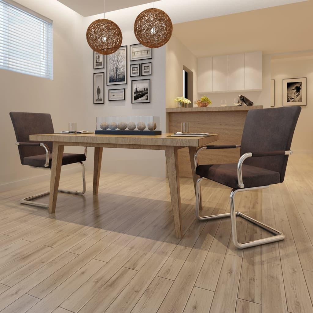 vidaXL Étkezőszékek 2 db Barna Modern Tervezés Kiváló Minőségű