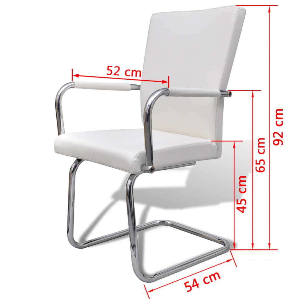 Vidaxl 2x sedie da pranzo similpelle bianche eleganti for Sedie similpelle