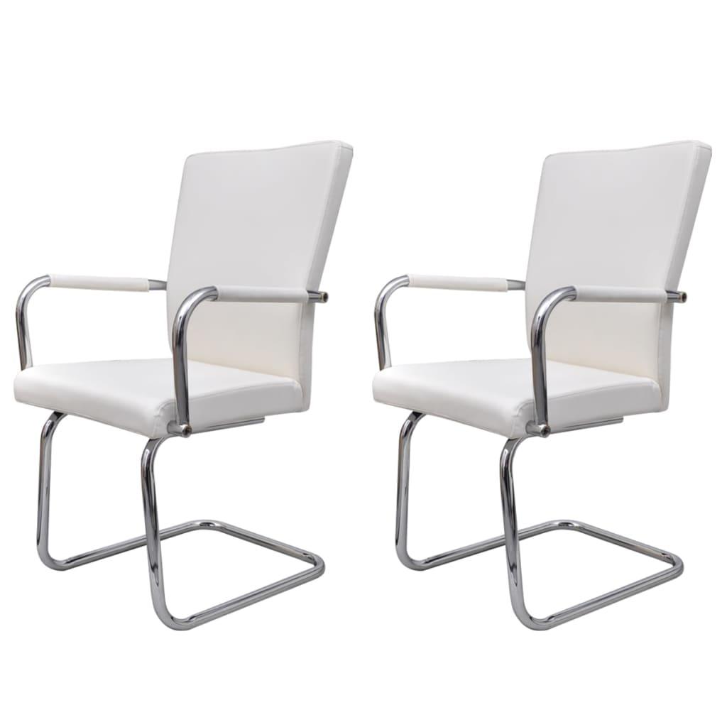 Articoli per Sedie da pranzo 2 pz Bianco Design moderno Cuoio artificiale  vidaXL.it