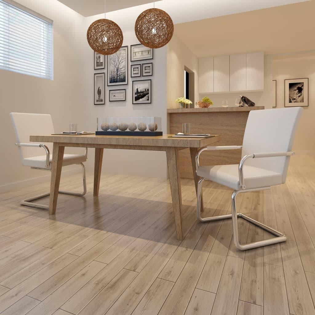 Ensemble de 2 chaises de salle manger blanc for Ensemble salle a manger blanc
