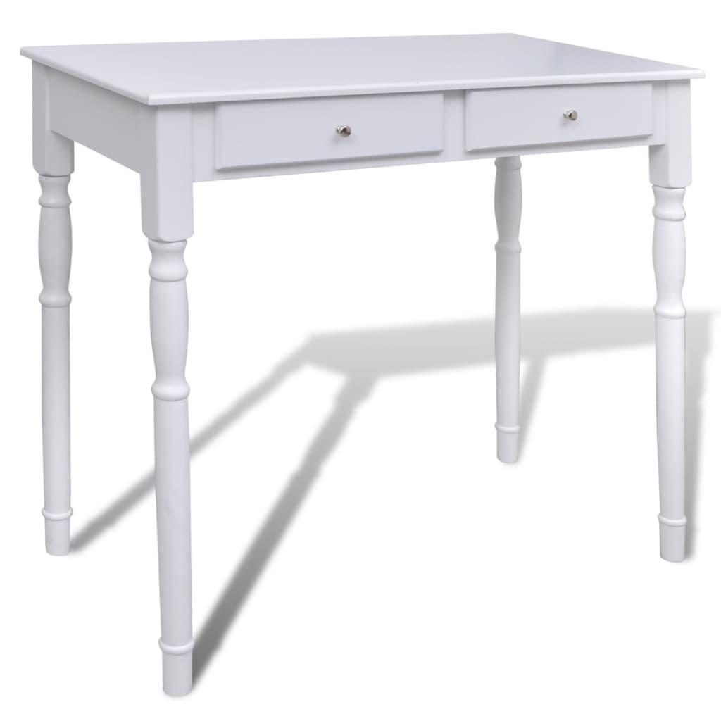 la boutique en ligne coiffeuse blanche 2 tiroirs avec 1 tabouret et 1 miroir 3 en 1. Black Bedroom Furniture Sets. Home Design Ideas
