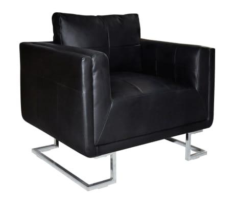 Luxus ledersofa sessel hohe qualit t schwarz mit chromf e - Luxus ledersofa ...