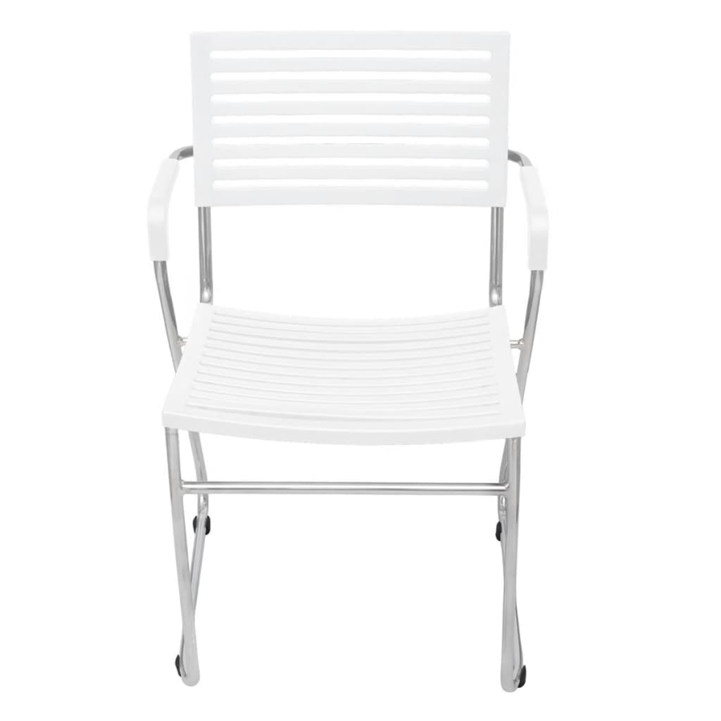 der wei e stapelbare st hle stapelstuhl mit armauflagen 2 stk online shop. Black Bedroom Furniture Sets. Home Design Ideas