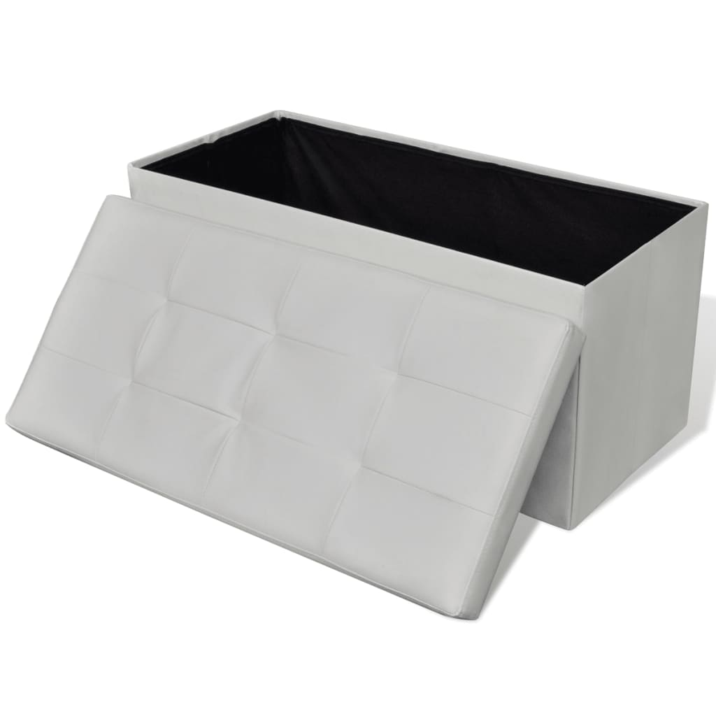 acheter banc de rangement pliable blanc pas cher. Black Bedroom Furniture Sets. Home Design Ideas