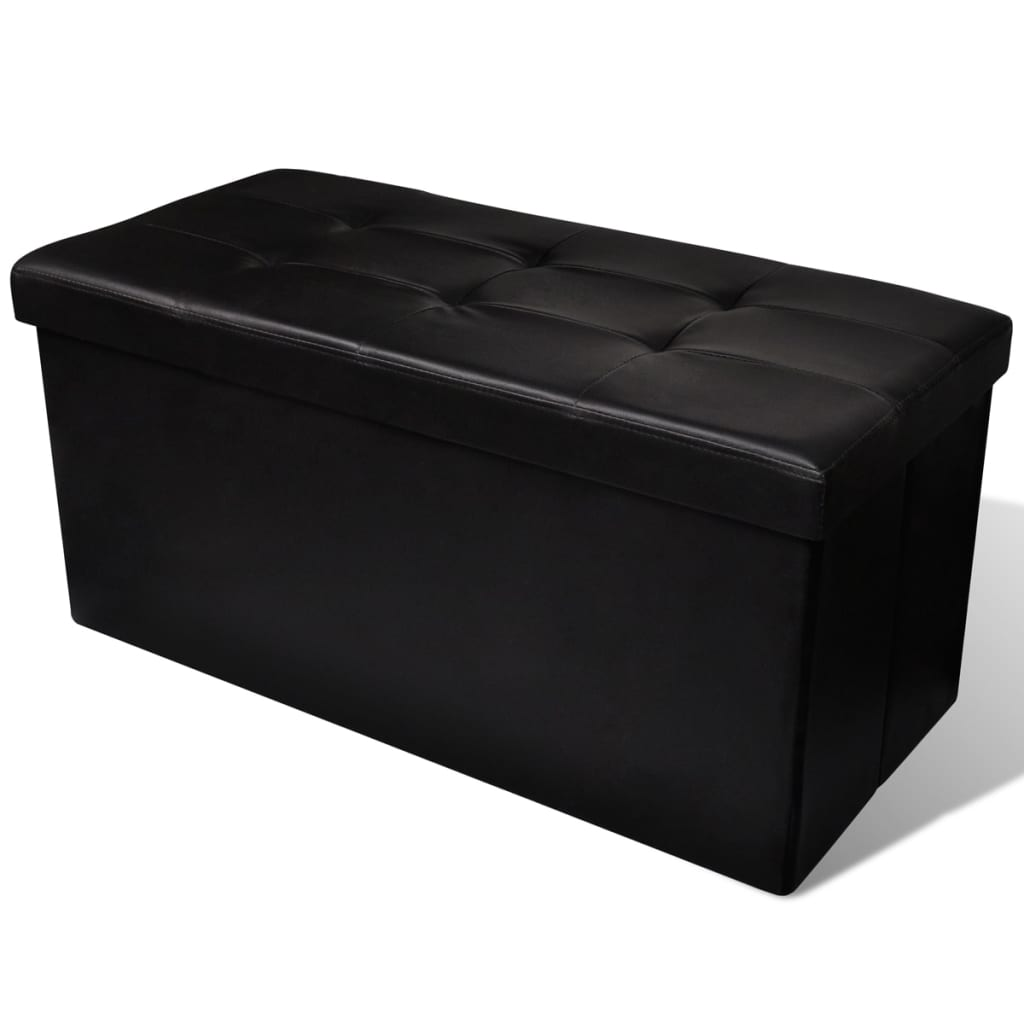 acheter banc de rangement pliable noir pas cher. Black Bedroom Furniture Sets. Home Design Ideas