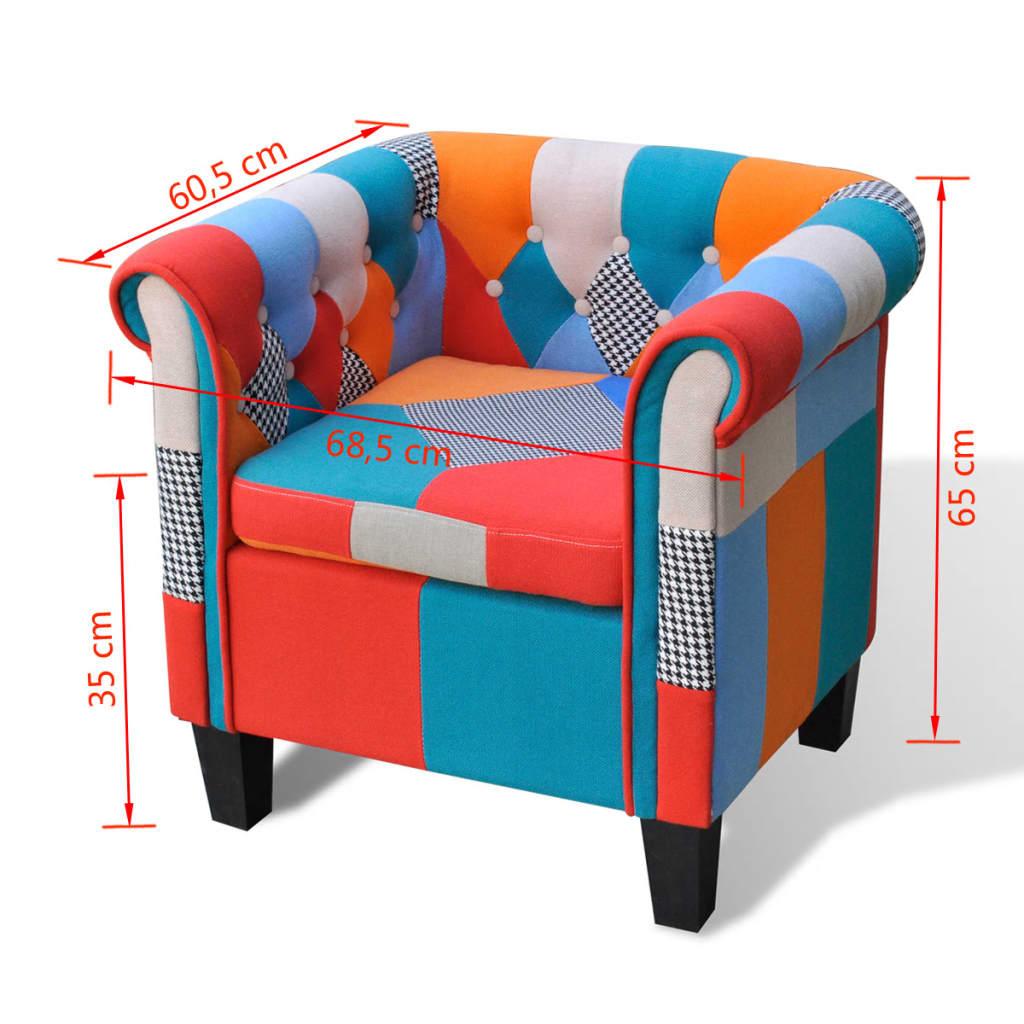 acheter fauteuil en tissu coussin accoudoir patchwork haute qualit pas cher. Black Bedroom Furniture Sets. Home Design Ideas