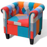 Home Armchair Fabric Patchwork Cushion Armrest High Quality