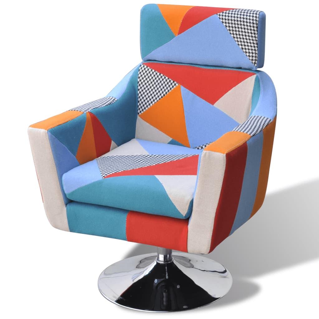 la boutique en ligne vidaxl fauteuil tv en tissu patchwork. Black Bedroom Furniture Sets. Home Design Ideas