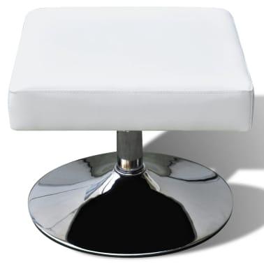 vidaXL mākslīgās ādas TV atpūtas krēsls, balts[5/7]