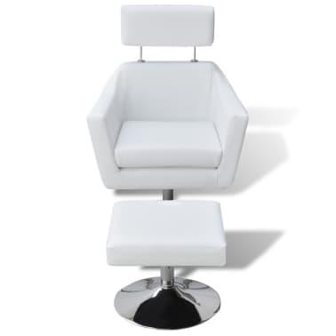 vidaXL mākslīgās ādas TV atpūtas krēsls, balts[2/7]