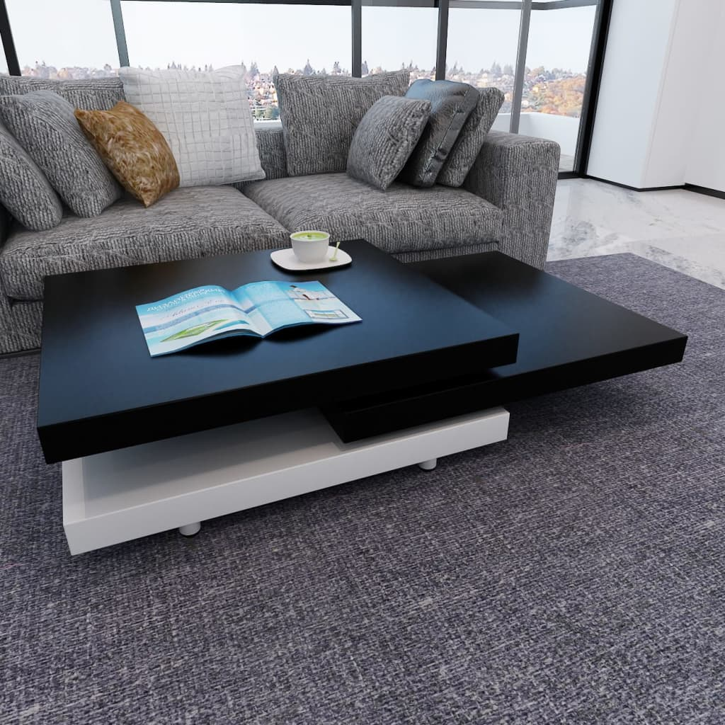 la boutique en ligne table basse 3 plateaux noir et blanc. Black Bedroom Furniture Sets. Home Design Ideas