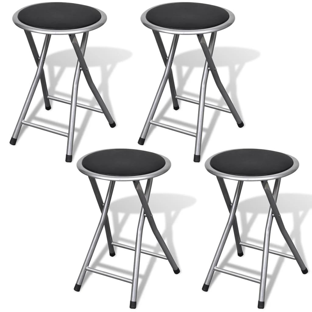vidaXL 4 db összecsukható szék