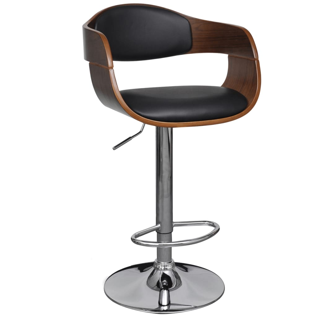 la boutique en ligne tabouret de bar r glable avec accoudoir en cuir. Black Bedroom Furniture Sets. Home Design Ideas