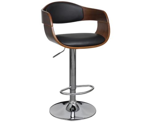 barkruk met rug en armleuningen leer in hoogte verstelbaar online kopen. Black Bedroom Furniture Sets. Home Design Ideas