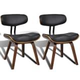 Puidust söögitoa tool kunstnahast istme ja seljatoega 2 tk