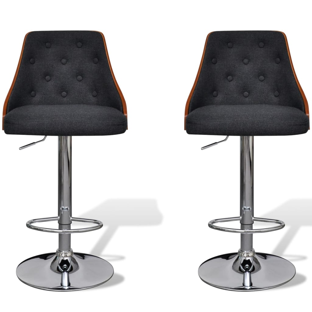 Bar Stool Height Adjustable with Backrest 2 pcs www  : image from www.vidaxl.com.au size 1024 x 1024 png 667kB