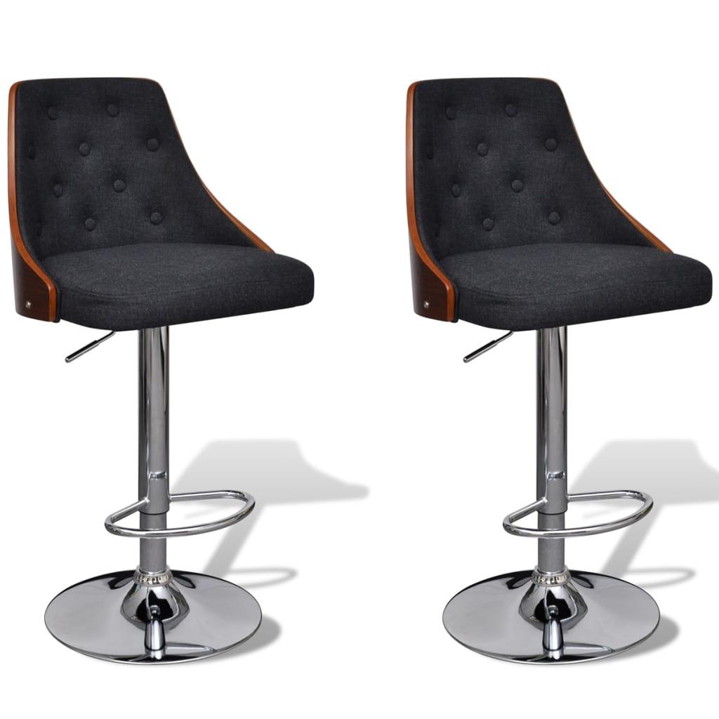 Justerbar barstol med ryggstöd 2 st