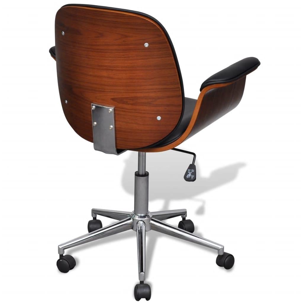Draaibare bureaustoel met armleuningen kunstleer for Bureau stoel