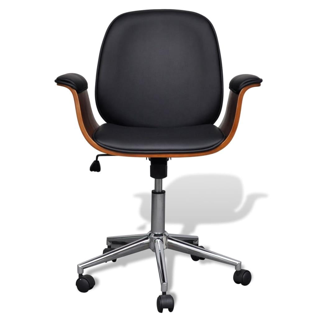 Silla de oficina de cuero altura regulable respaldo for Altura silla