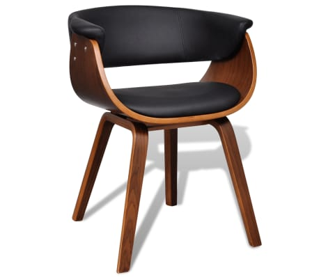 moderner lehnstuhl aus kunstleder und holz g nstig kaufen. Black Bedroom Furniture Sets. Home Design Ideas