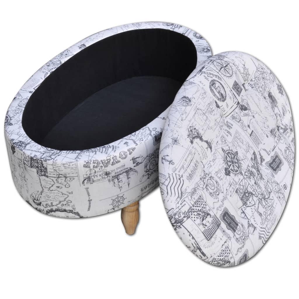acheter pouf repose pieds avec bo te de rangement ottoman ovale 99 x 60 x 47cm pas cher. Black Bedroom Furniture Sets. Home Design Ideas