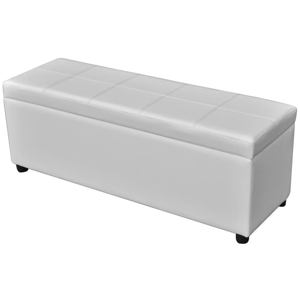 Acheter banc de rangement en bois blanc pas cher for Banc de rangement pas cher
