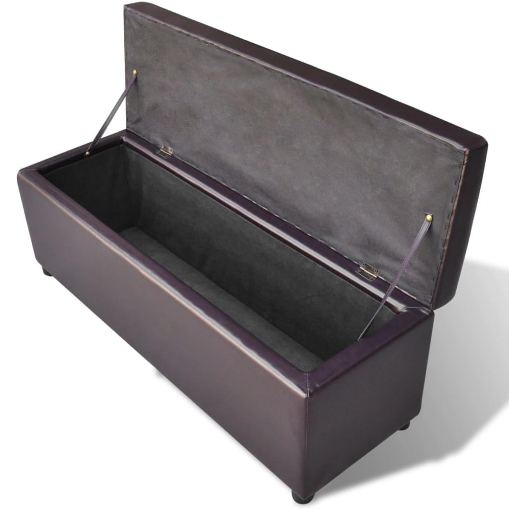 acheter banc de rangement en bois brun pas cher. Black Bedroom Furniture Sets. Home Design Ideas