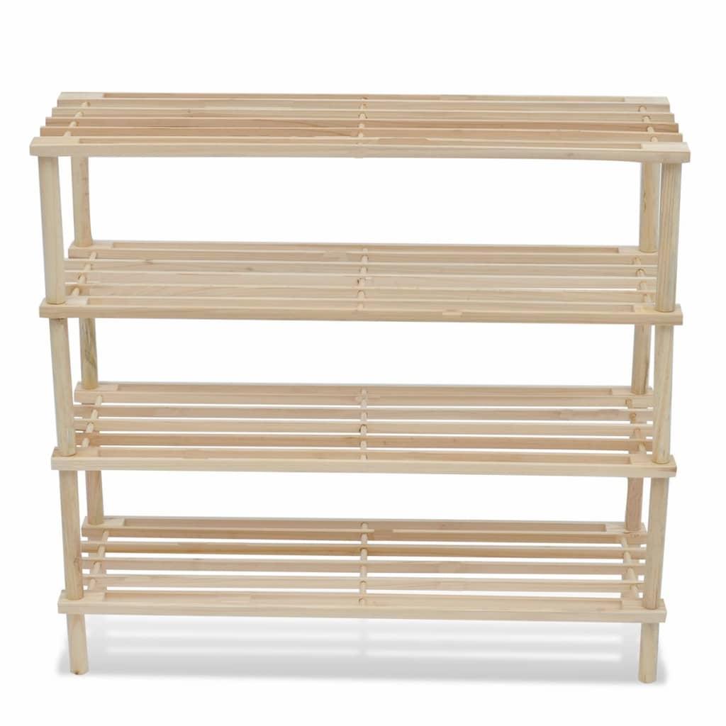 la boutique en ligne etag re chaussures 4 niveaux en bois 2 pcs. Black Bedroom Furniture Sets. Home Design Ideas
