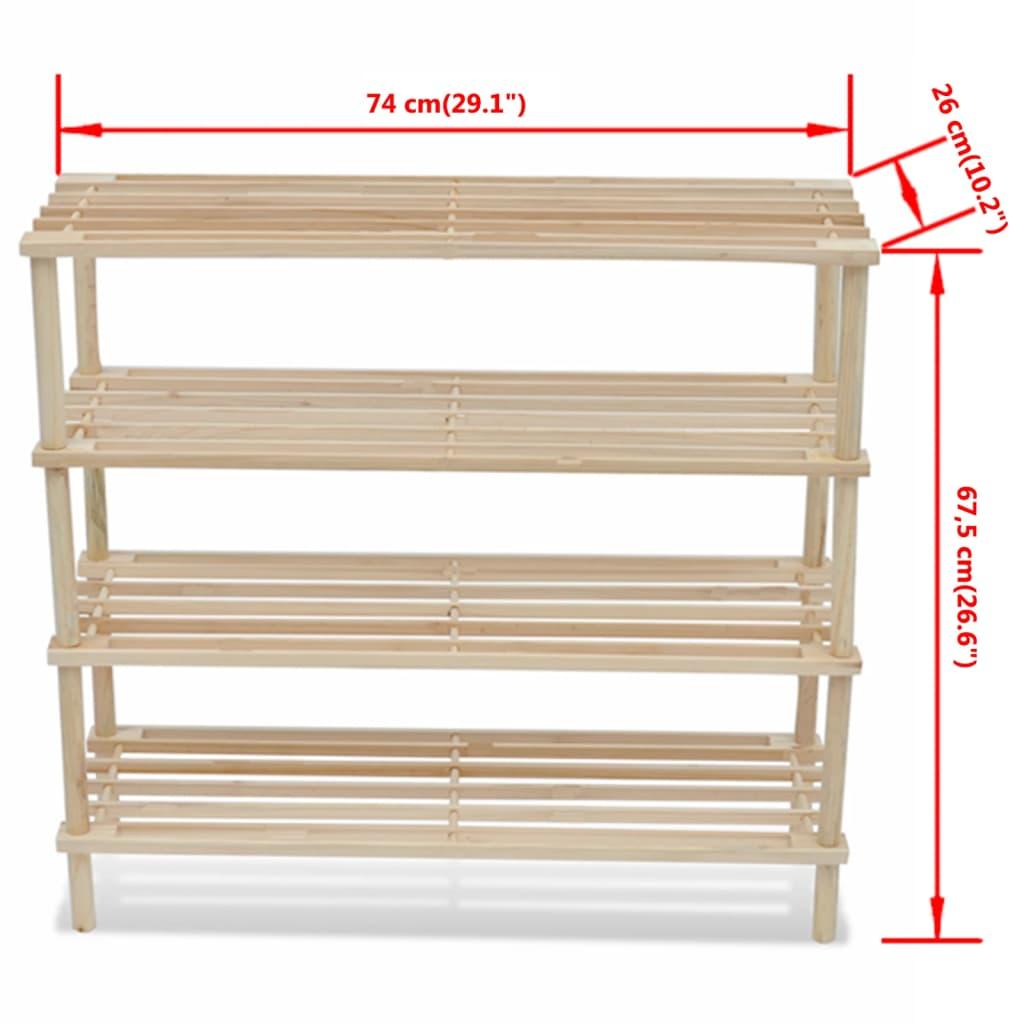 acheter etag re chaussures 4 niveaux en bois 2 pcs pas. Black Bedroom Furniture Sets. Home Design Ideas