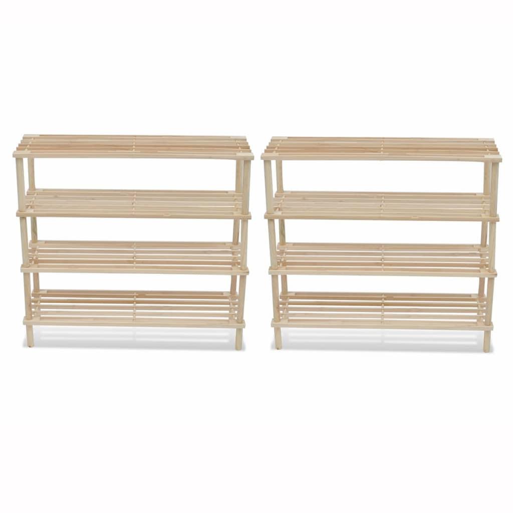 acheter etag re chaussures 4 niveaux en bois 2 pcs pas cher. Black Bedroom Furniture Sets. Home Design Ideas