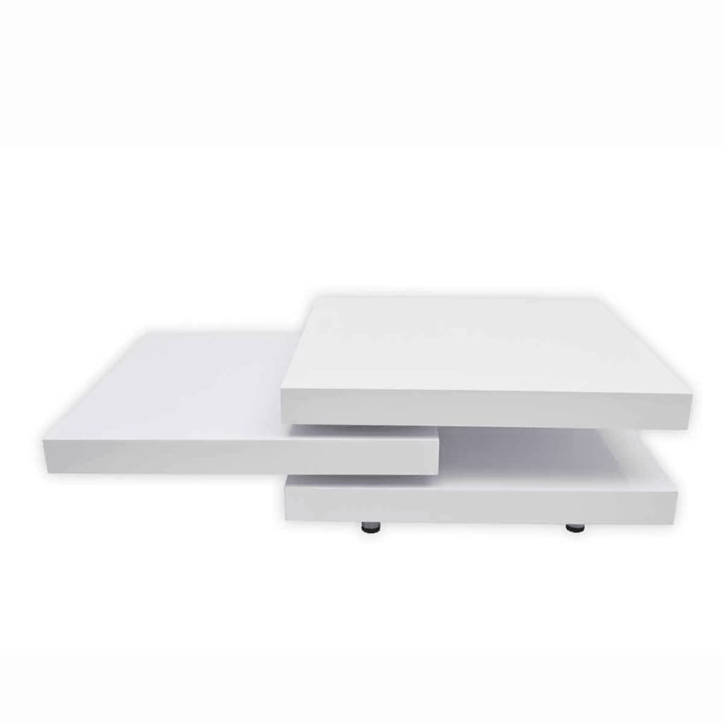 Coffee Table Layers White High Gloss Amazon Co Uk Kitchen: Coffee Table 3 Layers White High Gloss