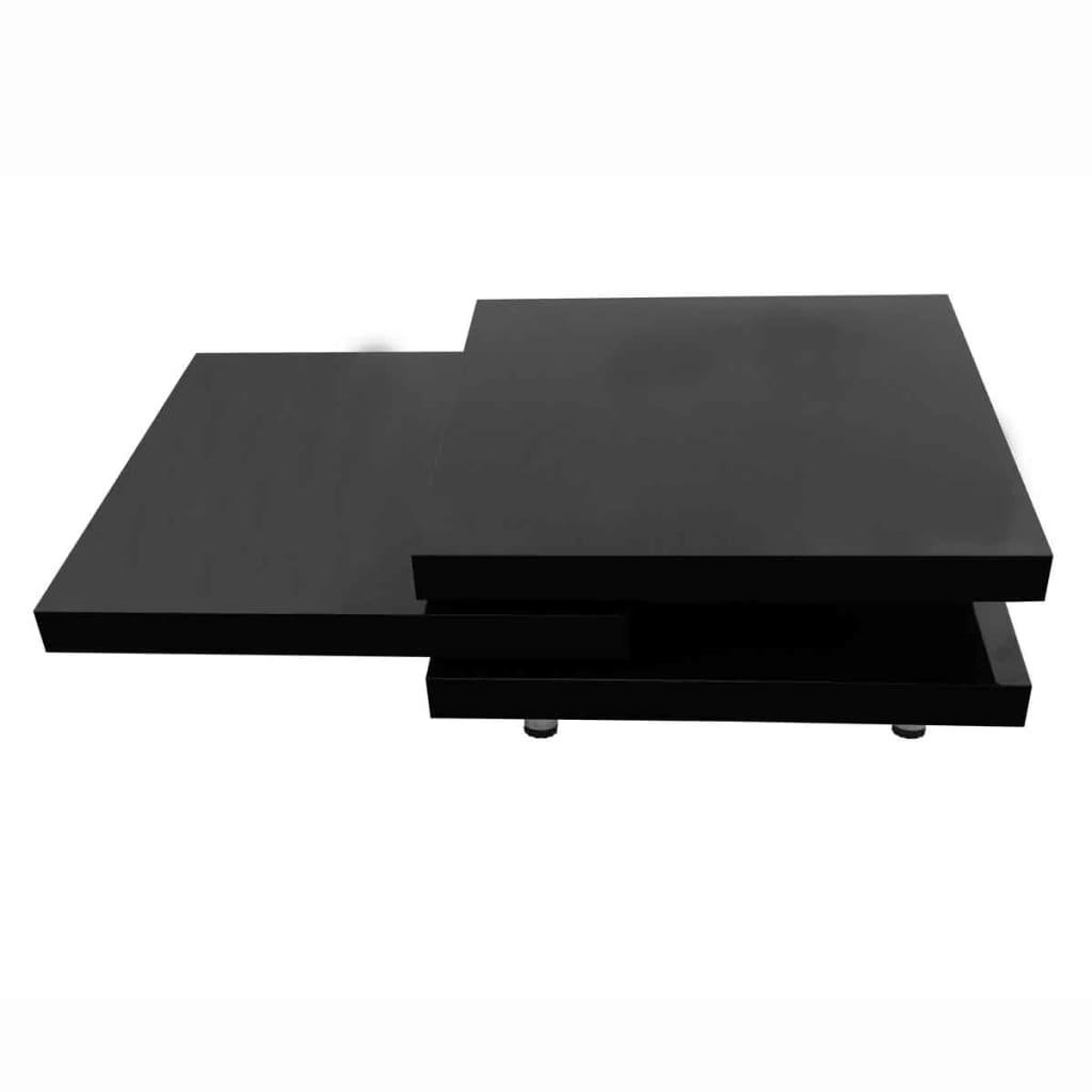 vidaXL 3-poziomowy stolik kawowy o wysokim połysku, czarny