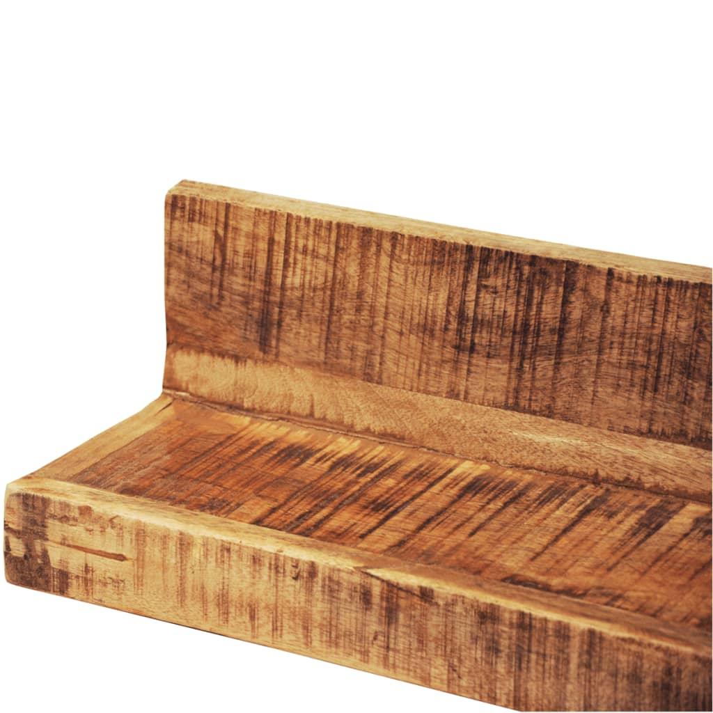 la boutique en ligne lot de 2 tag res murales en bois. Black Bedroom Furniture Sets. Home Design Ideas