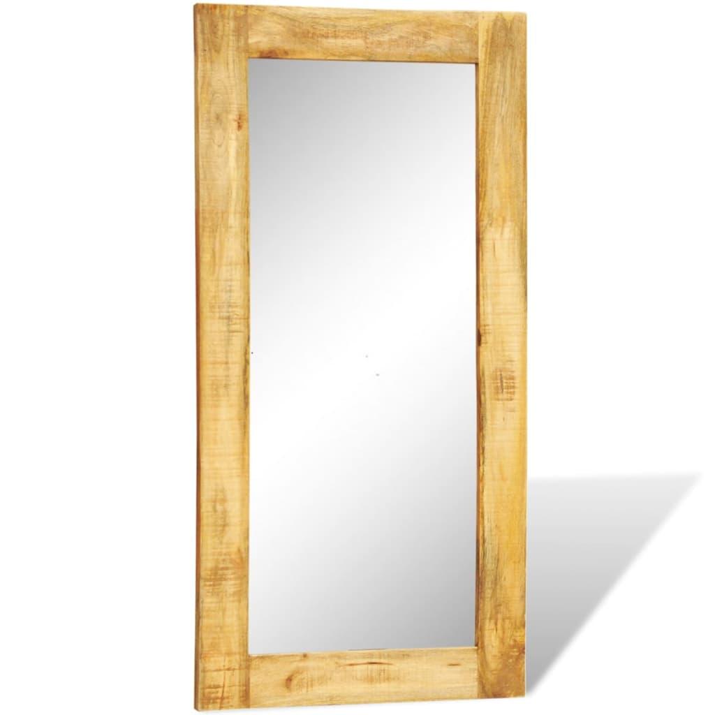 Acheter miroir mural en bois massif rectangulaire 120 x 60 for Miroir 60 x 90