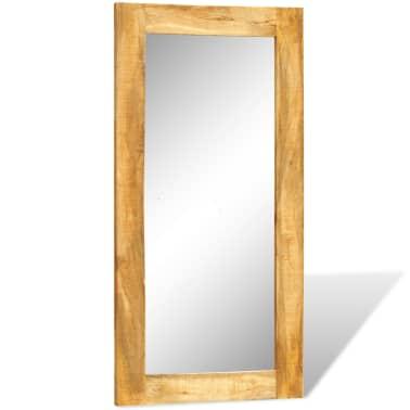 Acheter miroir mural en bois massif rectangulaire 120 x 60 for Miroir mural 160 cm