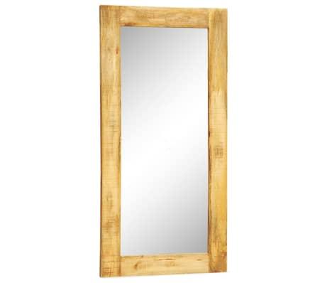 Miroir mural en bois massif rectangulaire 120 x 60 cm for Miroir mural rectangulaire