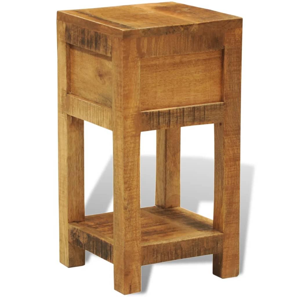 Tavolino in legno solido comodino con 1 cassetto - Tavolino comodino ...
