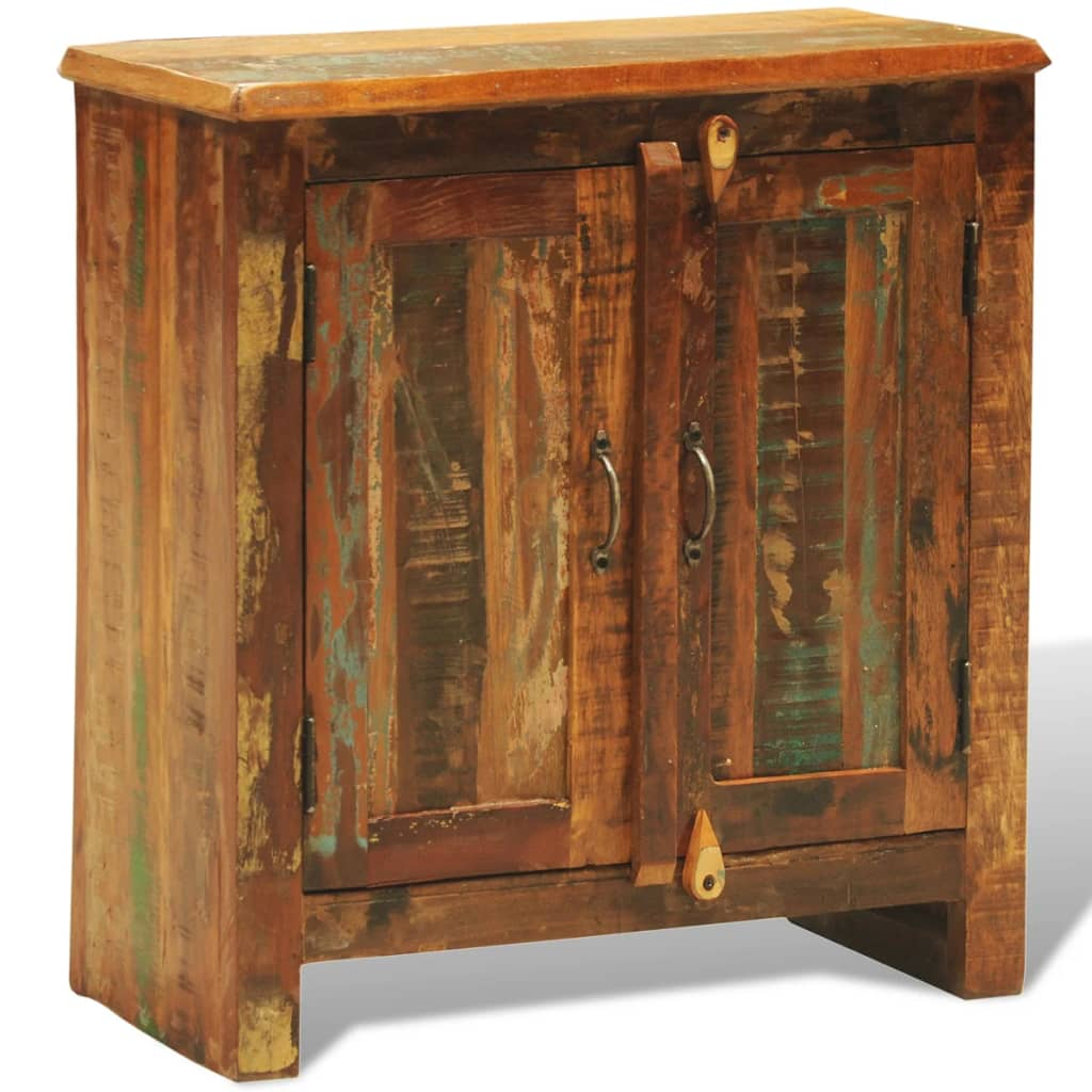 Reclaimed wood cabinet with two doors vintage antique - Cabinet made from old doors ...