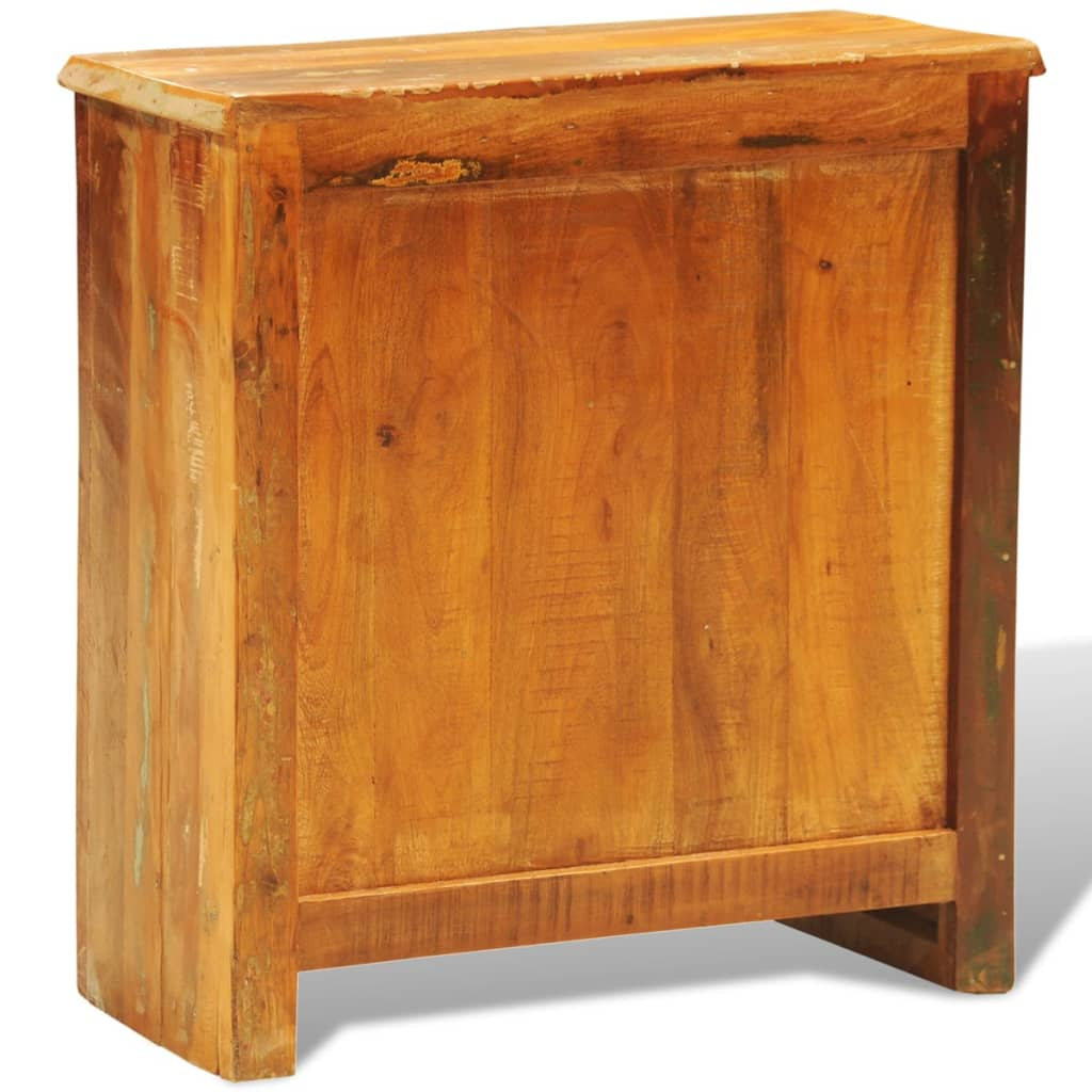 Reclaimed wood cabinet with two doors - Cabinet made from old doors ...