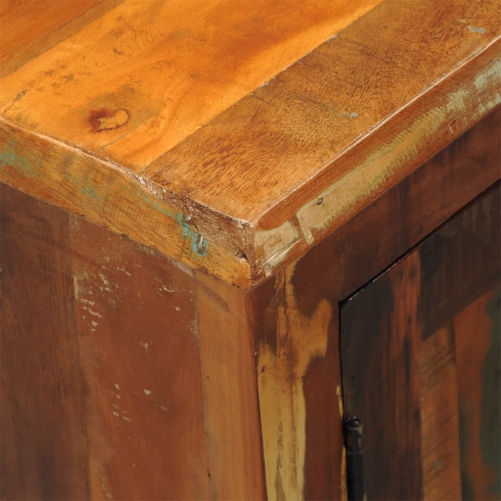 Reclaimed Wood Cabinets ~ Reclaimed wood cabinet with two doors vintage antique